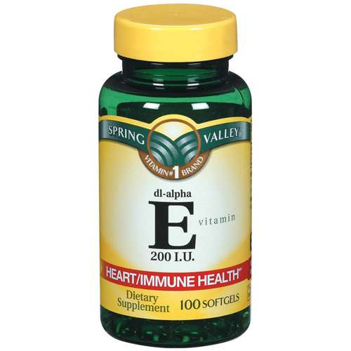 Spring Valley Vitamin E 200 I.U. Softgels Dietary Supplement 100 ct