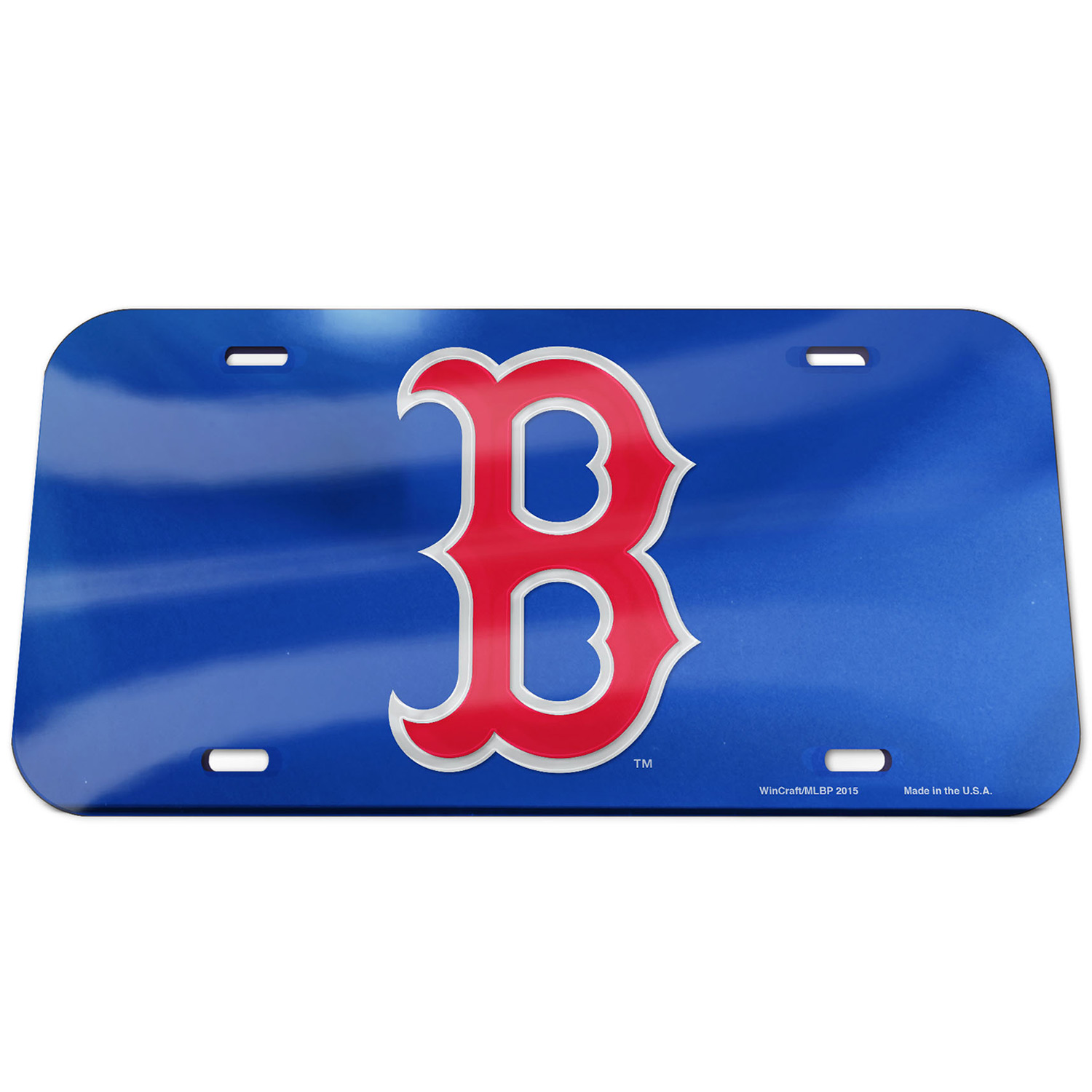 Boston Red Sox WinCraft Logo Crystal Mirror License Plate - Royal - No Size