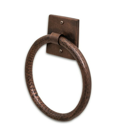 Monarch Abode Pure Copper Hand Hammered Towel Ring Allied Copper Towel Ring