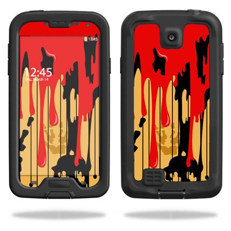 Mightyskins Protective Vinyl Skin Decal Cover for LifeProof Samsung Galaxy S4 Case fre wrap sticker skins Dripping Blood](Dripping Blood)