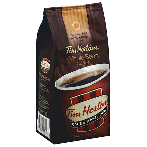 Tim Hortons 100% Arabica Medium Roast Whole Bean Coffee, 12 oz, (Pack of 6)