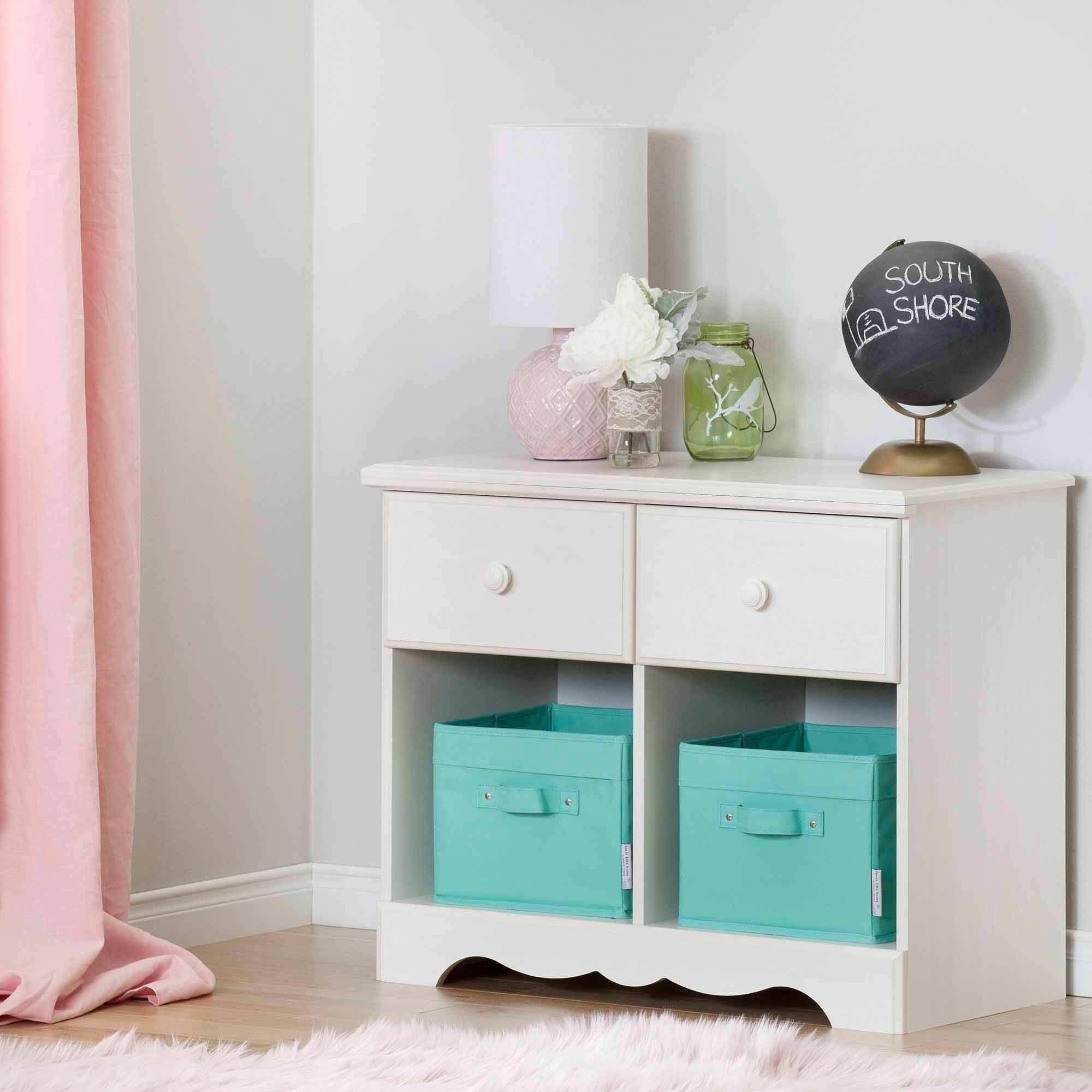South Shore Summer Breeze 2-Drawer Double Nightstand, Multiple Finishes