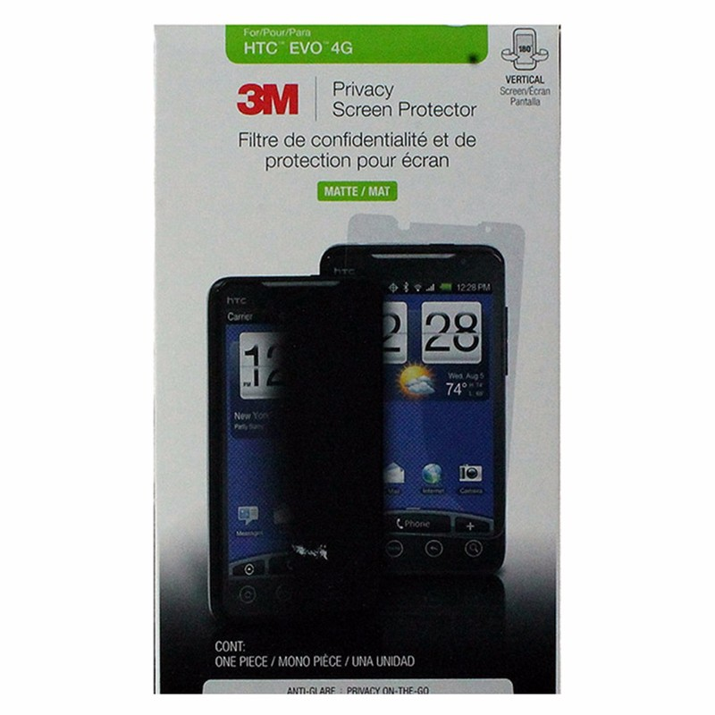 3M Privacy Screen Protector Matte Finish for HTC Evo 4G - Tinted