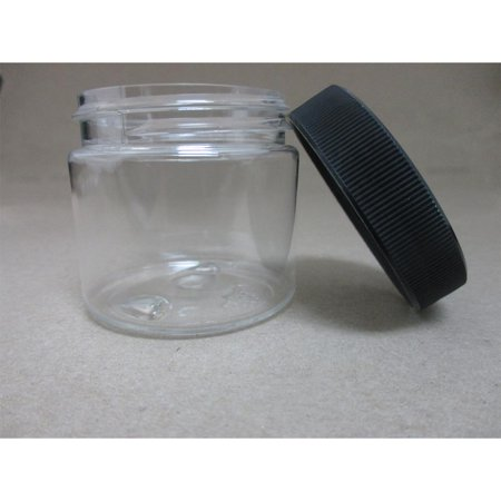 48 PET Plastic 2 Oz Empty Clear Containers Cosmetic Jar Craft Creams Food Travel - Craft Jars