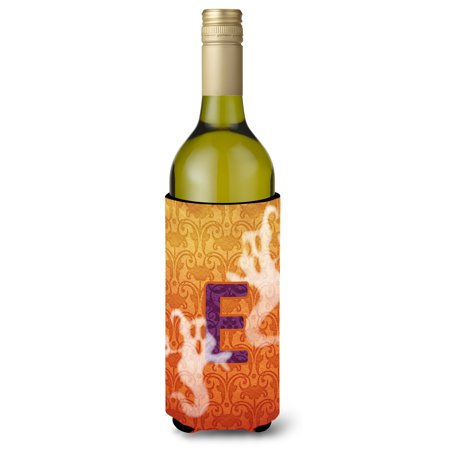 Halloween Ghosts  Initial  Letter E Wine Bottle Beverage Insulator Beverage Insulator - Halloween Letter E