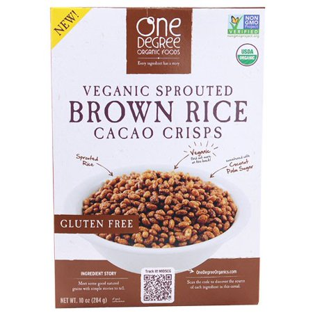 One Degree Organic Foods Cereal, Brown Rice Cacao Crisps, 10