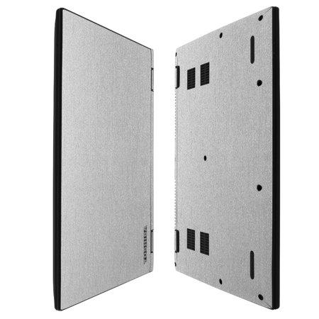 Skinomi Brushed Aluminum Skin   Screen Protector For Toshiba Satellite Radius 14   2015