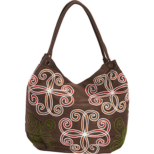 Bamboo 54 Embroidered Hobo