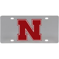 Nebraska Cornhuskers Stainless Steel Laser-Cut Acrylic License Plate - No Size