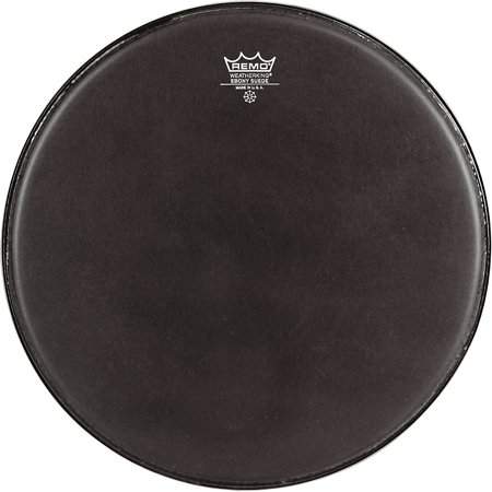 Remo Emperor Ebony Suede Marching Bass Drumhead Black Suede Black Marching Bass