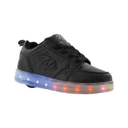 - Heelys Unisex-Kids Premium Lo Wheeled Heel Shoe, Black, 5 M US Little Kid
