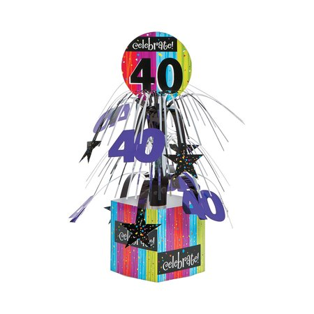 40th Birthday Centerpieces - Milestone 40th Centerpiece for Birthday - Party Supplies - Licensed Tableware - Misc Licensed Tableware - Birthday - 1 Piece