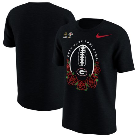 Georgia Bulldogs Nike Youth College Football Playoff 2018 Rose Bowl Bound Illustrated T-Shirt - Black - Yth