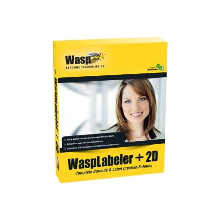 WASPLABELER +2D 1U BARCODE DESIGN SOFTWARE IN BOX