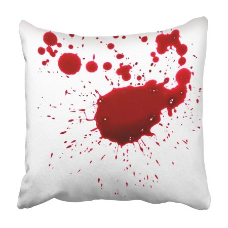 BPBOP Red Drop Blood Drip Spill Stain Splash Crime Wound Accident Halloween Pillowcase Cover 18x18 inch - Halloween Blood Stains