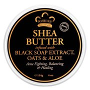 Nubian Heritage Shea Butter Infused With Black Soap Extract, Oats And Aloe - 4 Oz, 6 Pack