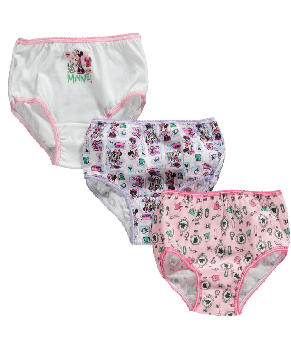 """Disney Minnie Mouse Little Girls' Toddler """"Bow-Tique"""" 3-Pack Panties (Sizes 2T - 4T)"""