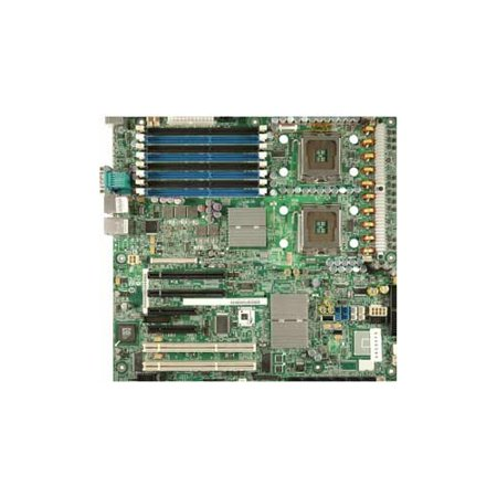 Refurbished-IntelS5000PSL/ROMBMotherboard, Dual LGA771 support Dual-Core Intel Xeon Processor 5000, Intel® 5000P chipset, 2 PCI-E x8, 2 PCI-E x4 ( 8x connector), 1 PCI-X 133 Mhz, 1 PCI-X 100 (Intel 5000 Chip Set)