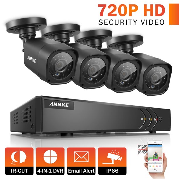 ANNKE Security Camera System  16CH TVL 1080P Video Surveillance kits 4Pcs 720P AHD Weatherproof Outdoor CCTV Camera(0-NO HDD,2-2TB HDD)