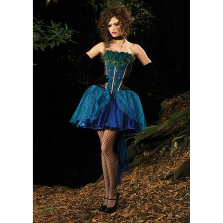Womens Halloween Costumes Under 20 Dollars (Peacock Princess Deluxe)