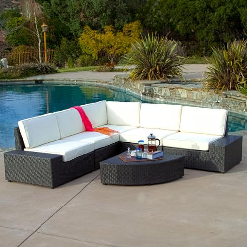 Karyn Outdoor 6-piece Grey Wicker Sofa Set