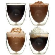 Moderna Artisan Series Double Wall 2 oz Beverage & Espresso Shot Glasses - Set of 4 Drinking Glasses