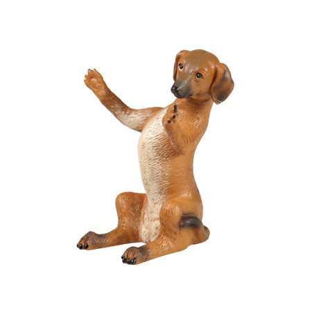 What On Earth Dachshund Mobile Phone Holder - Sculpted Resin Weiner Dog Shaped Cellphone Stand - 6