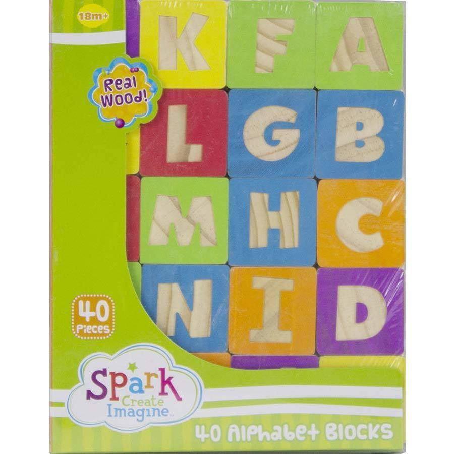 Spark, Create, IMagine Alphabet Blocks, 40 Pieces by Spark%2C Create%2C Imagine