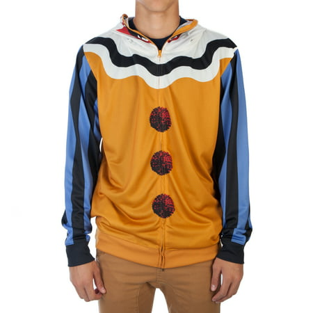 BioWorld Scary Clown Men's Halloween Costume Hoodie - Scary Halloween Makeup For Men