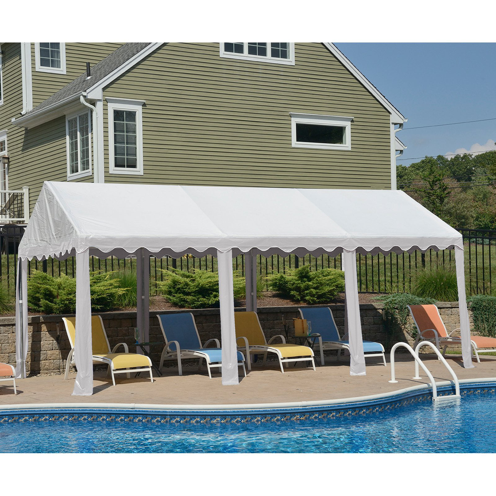 Party Tent, 10' x 20' 3m x 6m, White by ShelterLogic Corp.