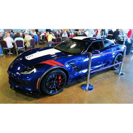 2017 Corvette C7 Grand Sport in Blue Model in 1:18 Scale by AUTOart