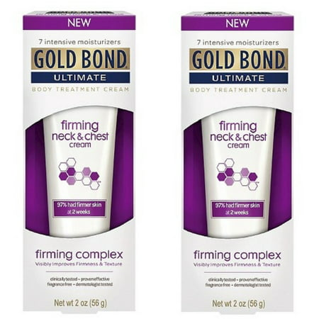 2 Pack - Gold Bond Ultimate Firming Neck & Chest Cream 2 Oz Each ()