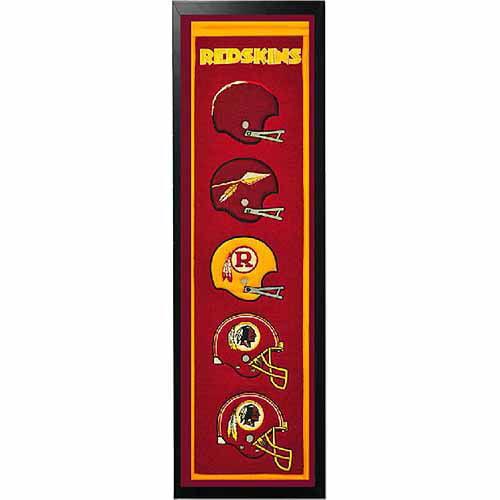 """NFL 14"""" x 37"""" Banner Frame, Washington Redskins"""