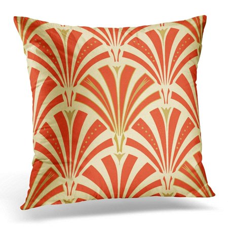 BPBOP Retro Fan Pattern Mandarin Orange Sherbet Pillowcase Cover 20x20 (Orange Case Fan)