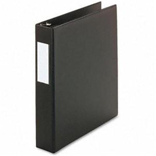 "Universal 20771 D-Ring Binder, 1-1/2"" Capacity, 8-1/2 x 11, Black"