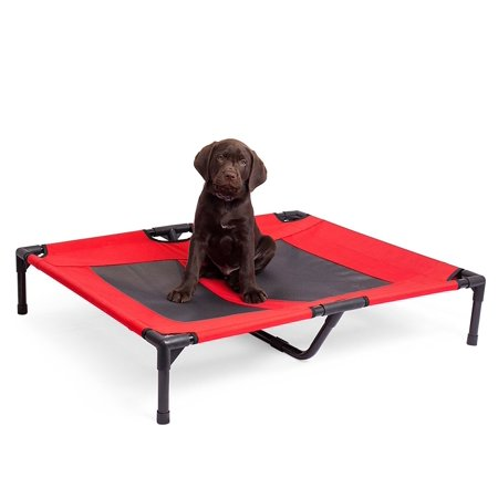 Internet's Best Dog Cot | 30 x 24.5 | Elevated Dog Bed | Cool Breathable Mesh | Indoor or Outdoor Use | Medium |