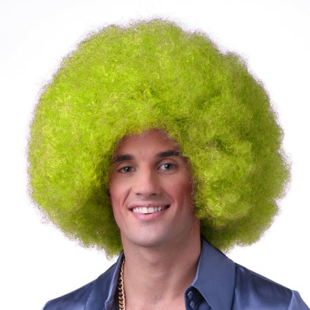 Sepia Costume Color Afro Synthetic Wig - Neon Green - image 1 de 1