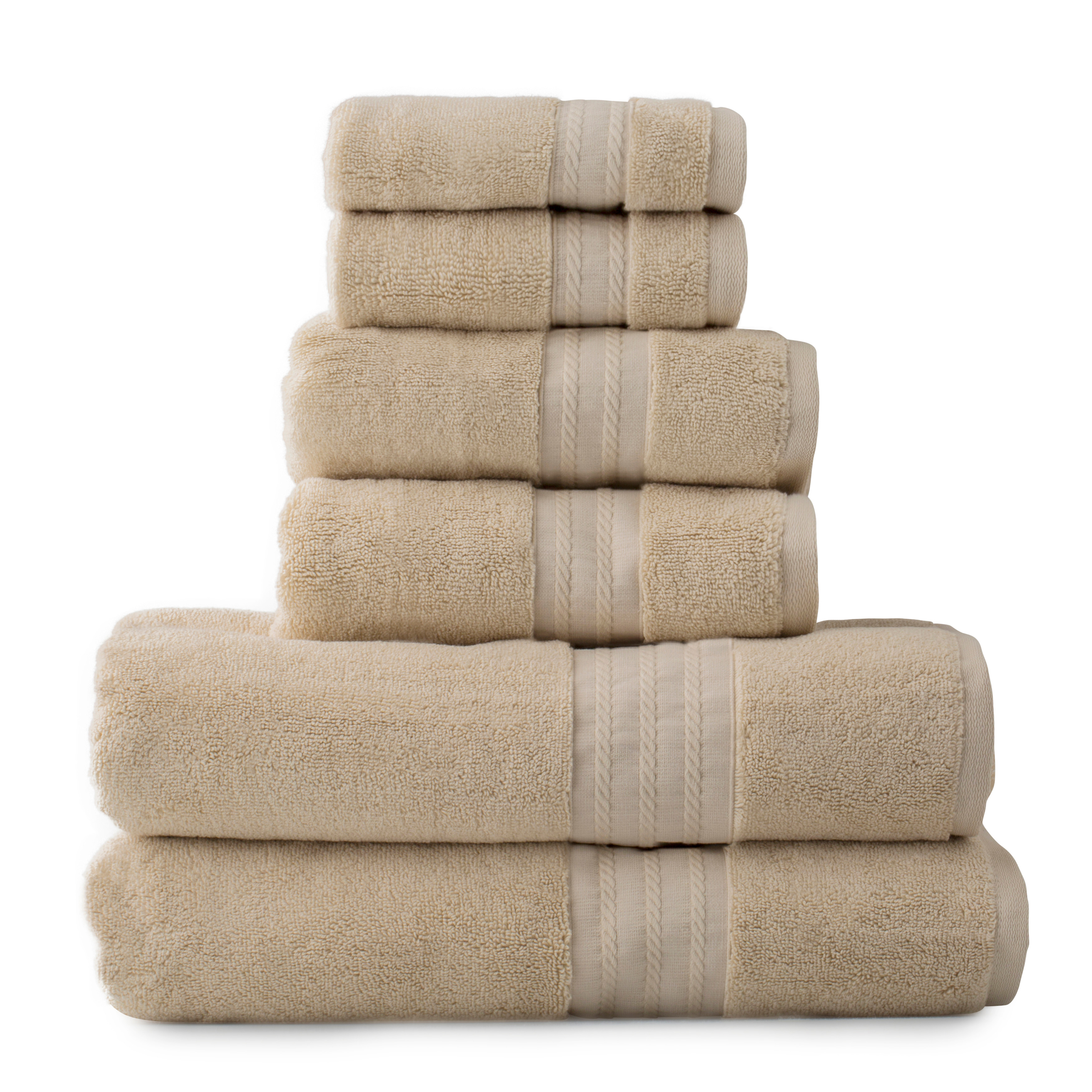 Crowning Touch Luxury Turkish Towel 6-Piece Set
