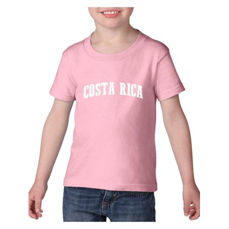 Costa Rica Heavy Cotton Toddler Kids T-Shirt Tee Clothing ()