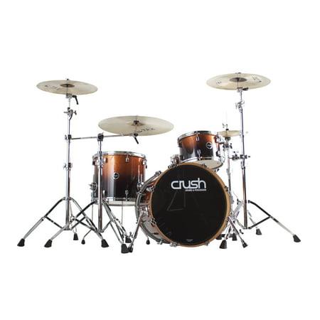 Crush Drums Sublime E3 Maple 4 Piece Shell Pack - Copper Sparkle Black Fade 4 Piece Drum Shell