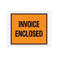 "Box Packaging ""Invoice Enclosed"" Envelope, 2 Mil Poly - 1,000/Case"