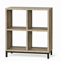 Better Homes & Gardens Square 4-Cube Storage Organizer with Metal Base, Multiple Finishes