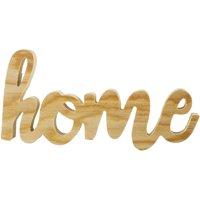 Mix The Media Wood Script Words-Home, Natural