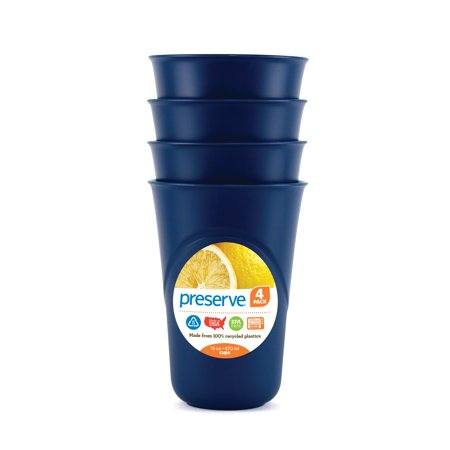 Preserve Everyday Cups, 16 Oz, Midnight Blue, 4 Ct