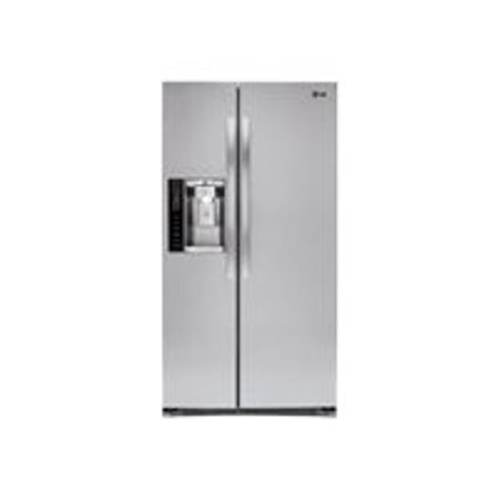 LG LSXS26326S - Refrigerator/freezer - freestanding - width: 35 9 in -  depth: 35 7 in - height: 70 1 in - 26 2 cu  ft - side by side with ice &  water