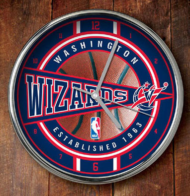 Washington Wizards Chrome Clock