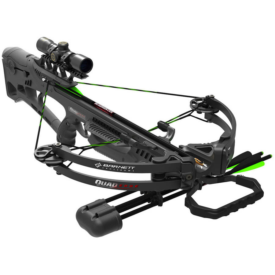 Barnett Quad Edge Crossbow for Game Hunting with 4x32 Hunting Scope, Black Crossbow