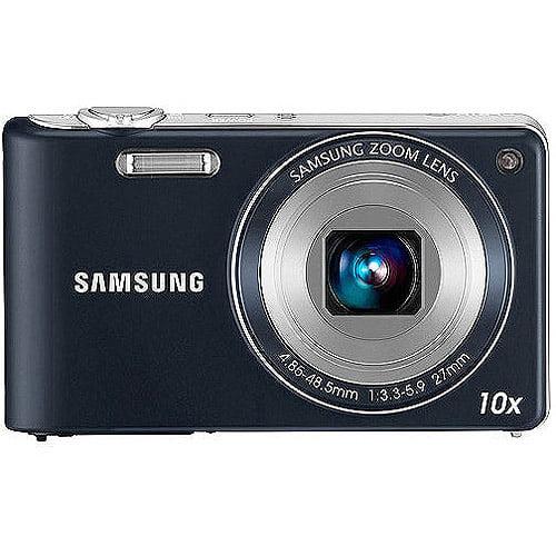 Samsung PL210 Indigo Blue 14.2MP Digital Camera w/ 10x Op...