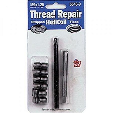 - Helicoil 5546-9 M9x1.25 Metric Coarse Thread Repair Kit