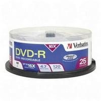 16x DVD-R Media 4.7GB 120mm Standard